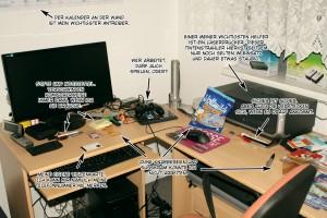 Schreibtisch des Autors Christian Schmidt - Klopfersweb
