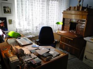 Schreibtisch der Autorin Patricia Koelle