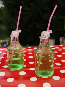 Zwei Flaschen und Eisbärwürfel