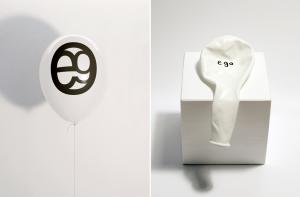 Visuelle Poesie - Luftballon Aufdruck Ego