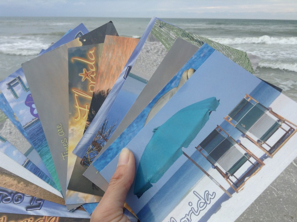 Postkarten am Strand